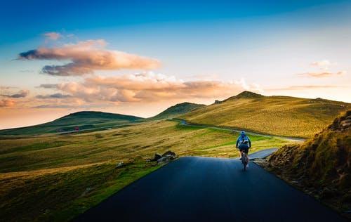 jízda na kole krajinou